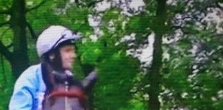 Jockey Tom Eaves on Maid In India at Haydock Park.