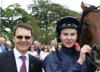 Former jockey turned trainer Joseph O'Brien (right) with his father Aidan.25) Cheltenham.