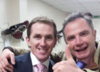 Chris Gordon with retired NH champion jockey Sir Anthony McCoy in 2015. Twitter.