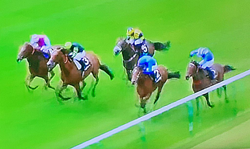 Boccaccio gets up to win by a nose, under jockey William Buick.
