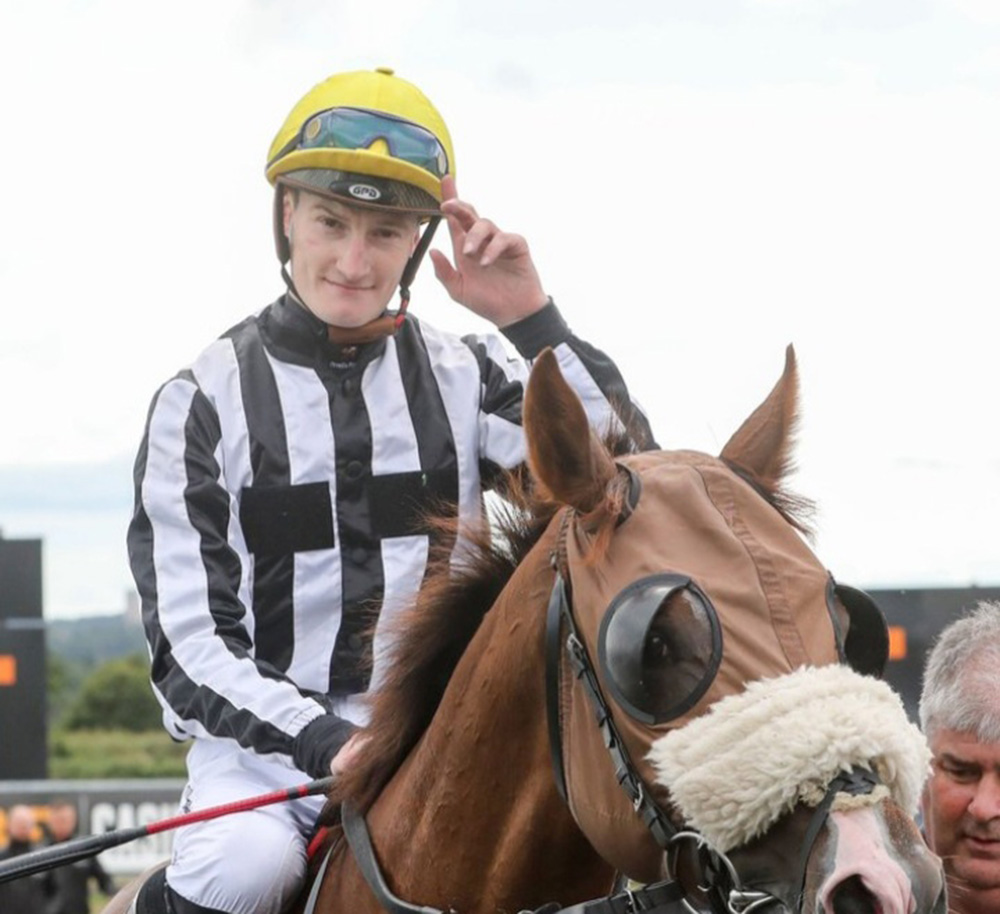 Daniel Muscutt: rides fromthehorsesmouth.info Goodwood selections Singing The Blues and Must Be An Angel. Photo: Twitter
