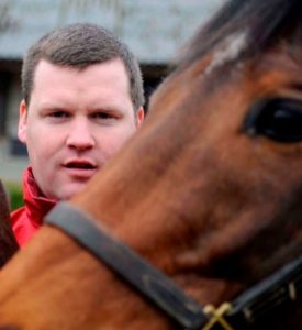 Gordon Elliott: Saddles Duffle Coat at Cheltenham.