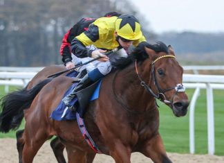 Callum Shepherd rode Final Voyage to win the Ladbrokes C4 Nursery at Wolverhampton.