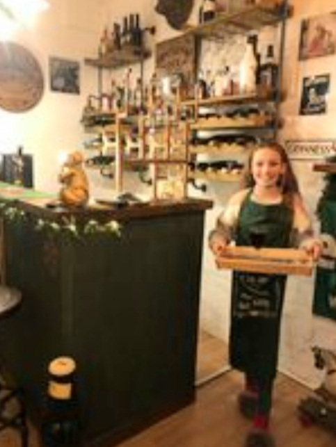 Daughter Indy: The Green Oak barmaid. Photo: Pippa Kirby