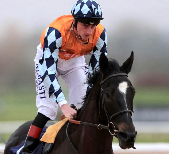 Adam Kirby rides Global Acclaim (4.15) and Martineo (7.50) Kempton Park.