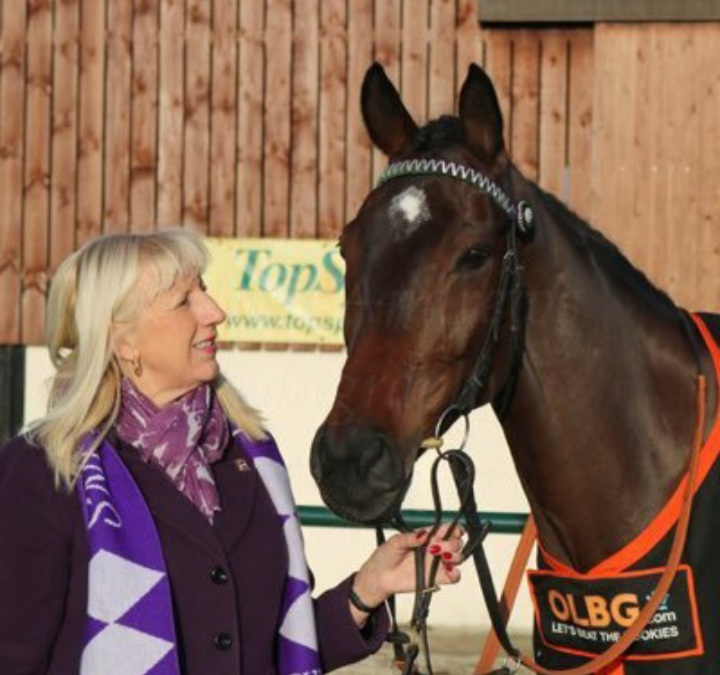 Lady Buttons and owner Jayne Sivills.