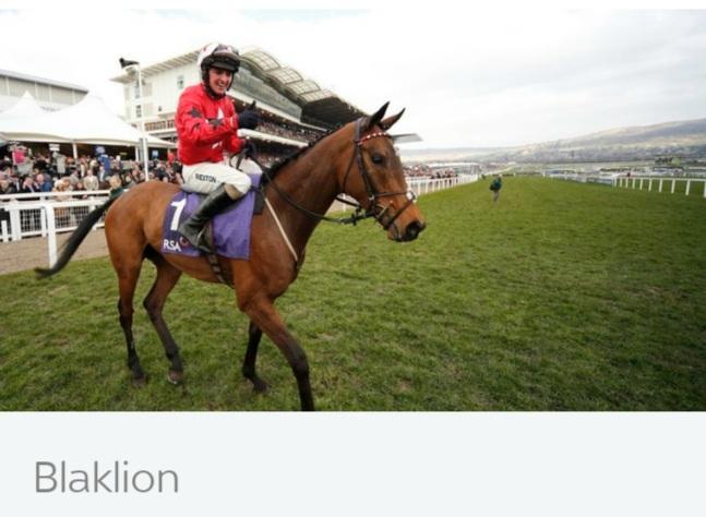 Dan Skelton trained Blaklion 66-1.
