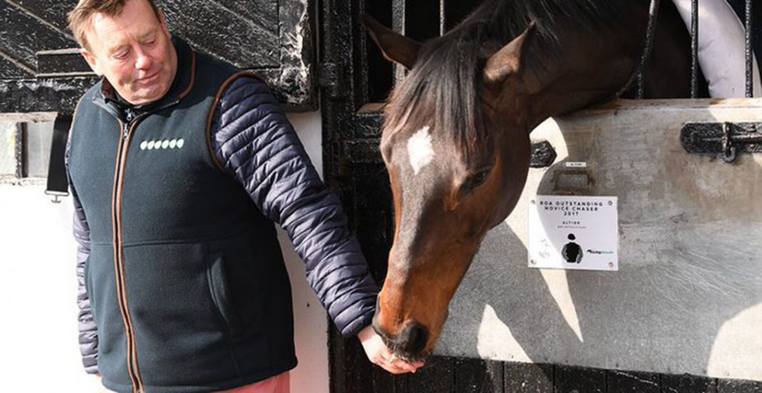 Altior with Nicky Henderson