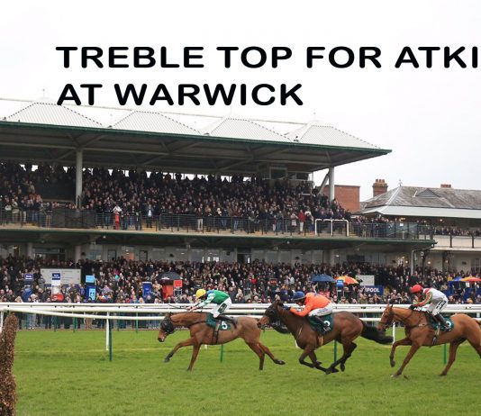 ASK HIMSELF (9-1) INDEFATIGABLE (7-2) AND FORTUNATE GEORGE (14-1) IN WARWICK 675-1 TREBLE