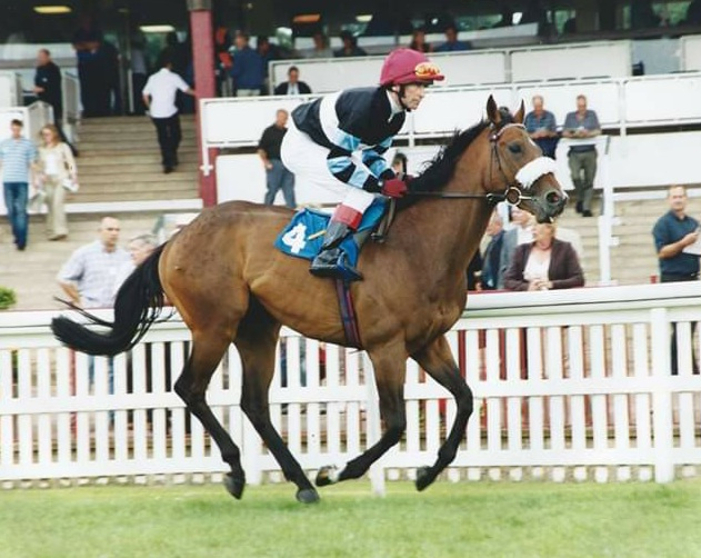Gary during his racing days as an amateur jockey.