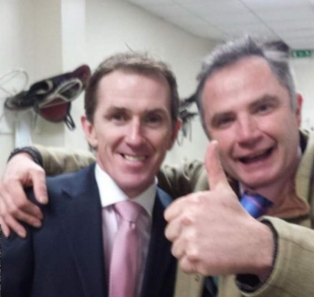 Chris Gordon with retired NH champion jockey Sir Anthony McCoy in 2015. Twitter.