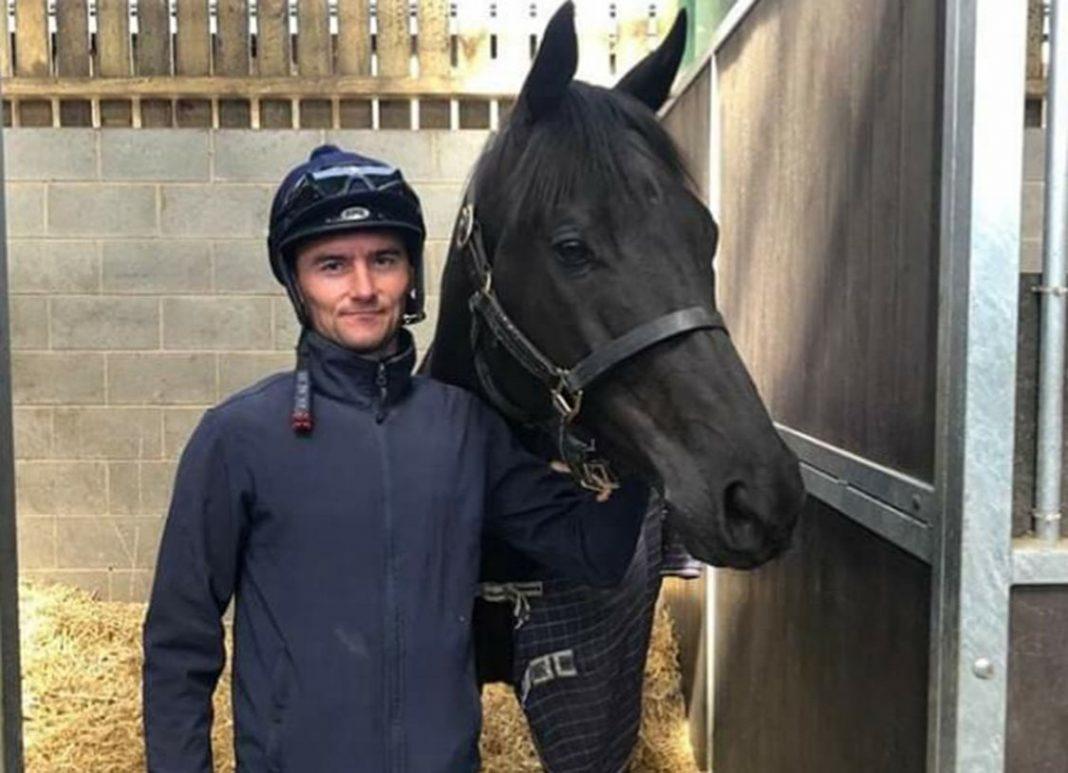 Jockey Danny Tudhope says goodbye to Suedois. Photo courtesy David O'Meara racing