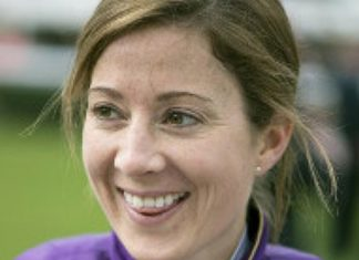 Caption: Hayley Turner rides Charlie Fellowes trained Chief Of Chiefs (2.45) Newmarket.