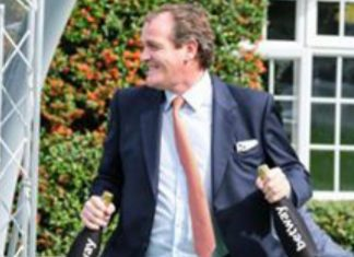 Richard Hannon saddles Chindit in the Darley Dewhurst Stakes. Photo: Twitter.