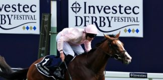 Vincent O'Brien won the Investec Derby for the seventh time with Anthony Van Dyck in 2019.