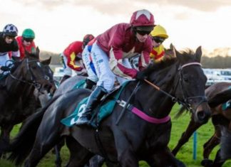 Matt Griffiths rides The Two Amigos (1.57) inCoral Welsh Grand National Trial.