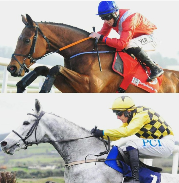 Envoi Allen (top) and Asterion Forlonge meet at Punchestown on Sunday