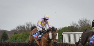 Nicky Richards: In tears after Takingrisks won the Listed Sky Bet Handicap Chase at Doncaster.