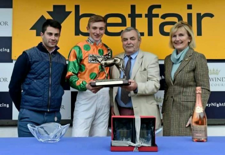 Tom's first winner on Start Time at Thirsk in the Betfair Novice Riders Series.
