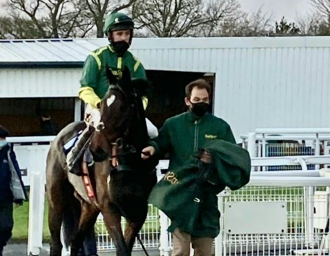 Bushypark Phil Kirby owner-trained tipped by fromthehorsesmouth.info Newcastle (3.10). Photo: Twitter.