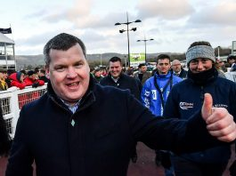 Trainer Gordon Elliott banned for a year, with six months suspended.