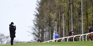 Aidan O'Brien out on the gallops