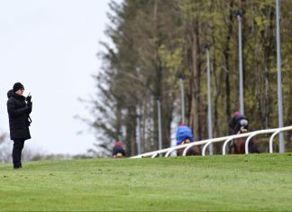 Aidan O'Brien out on the gallops