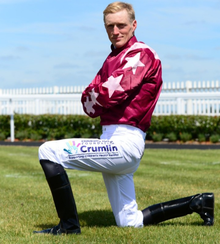 Billy Lee rides Sounds Of Spring (3.05) and Trump Card (5.25) at Navan. Photo: Twitter.