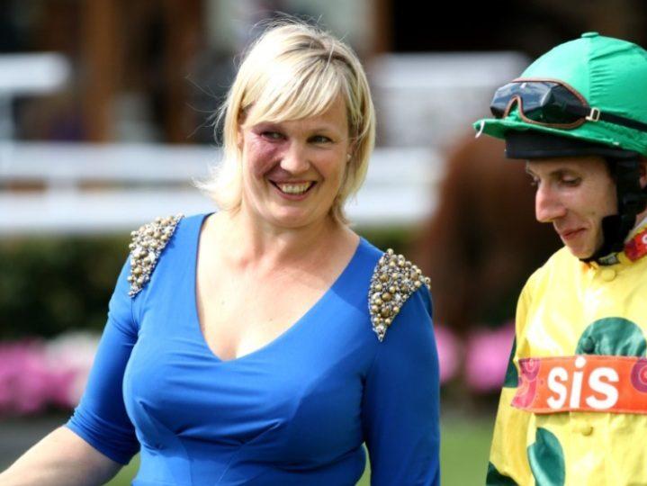 Trainer Ruth Carr saddles Spanish Angel (8.05) Doncaster.