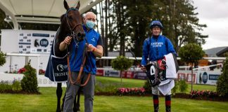 Kevin Manning rides Jim Bolger trained Poetic Flare