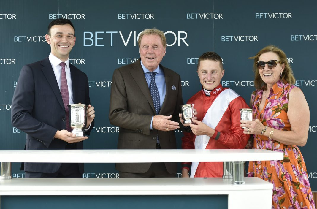 BetVictor Racing Brand Ambassador Harry Rednapp with jockey Tom Marquand